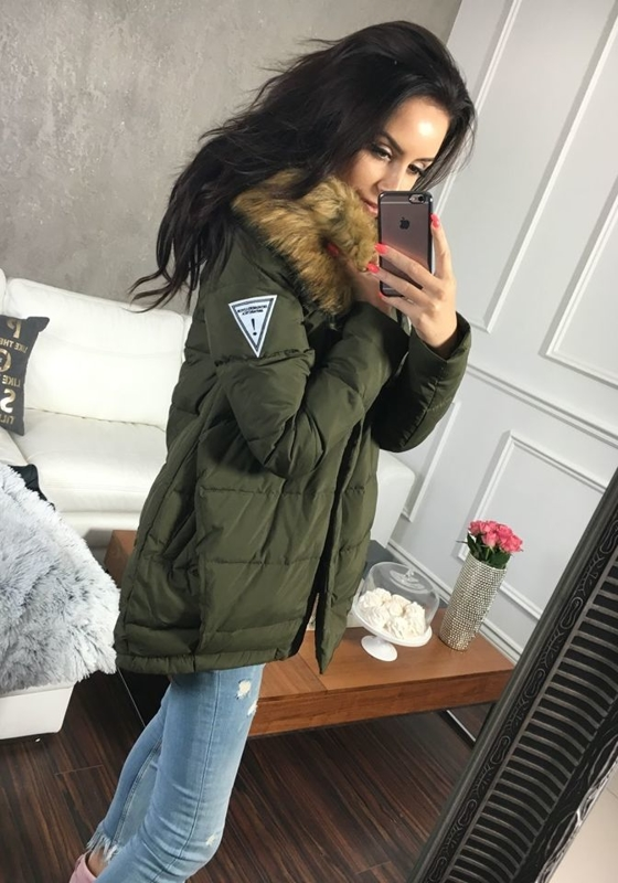 Kurtka zimowa damska khaki Denley 8062