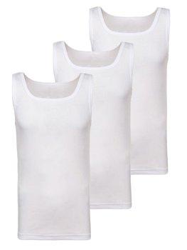 Podkoszulek męski bez nadruku biały 3 Pack Denley C10049-3P
