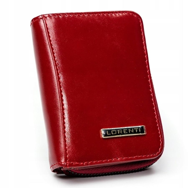 Portfel damski skórzany czerwony 2909