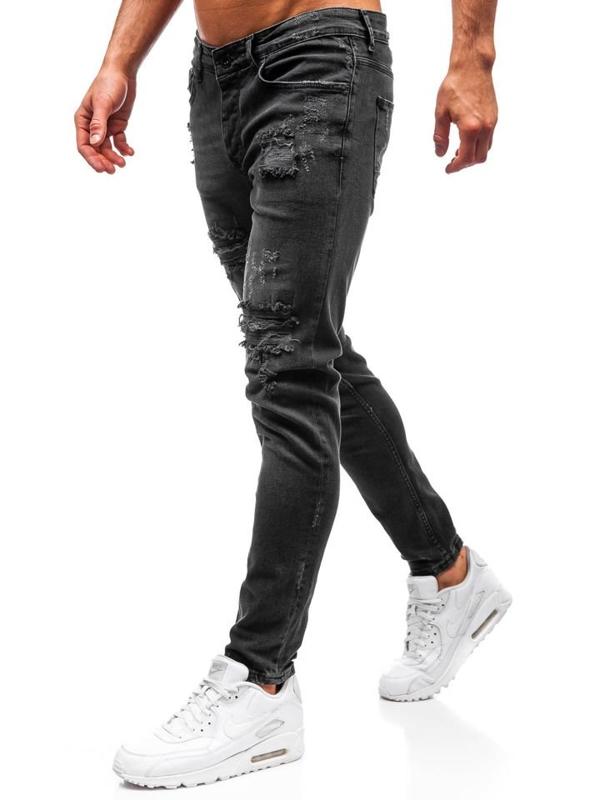 Spodnie jeansowe męskie antracytowe Denley 1018