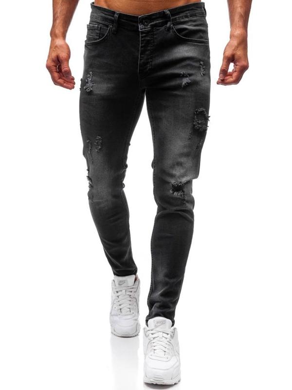 Spodnie jeansowe męskie czarne Denley 1010