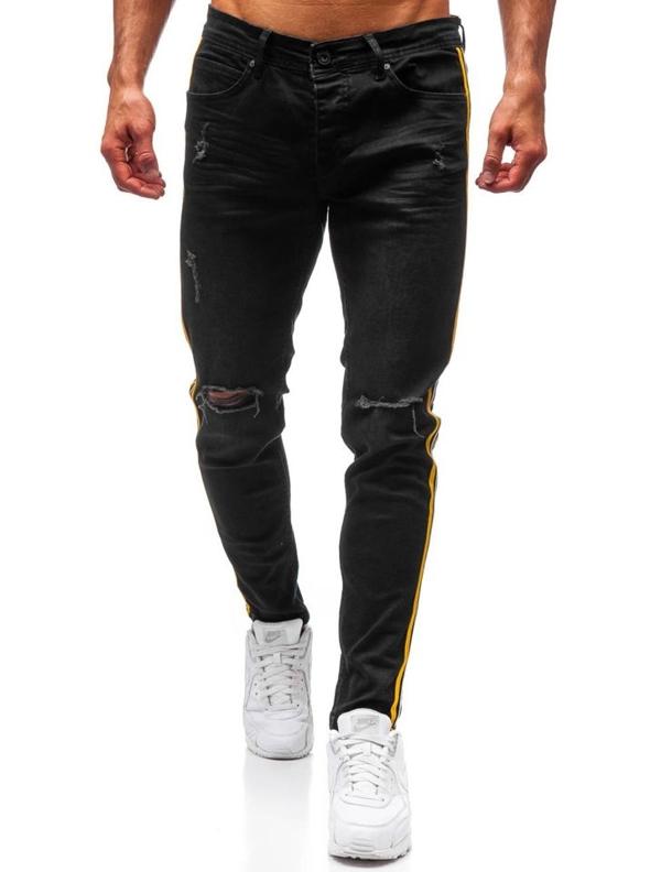 Spodnie jeansowe męskie czarne Denley 1011