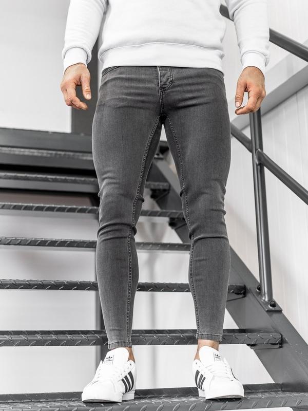 Spodnie jeansowe męskie czarne Denley 1088