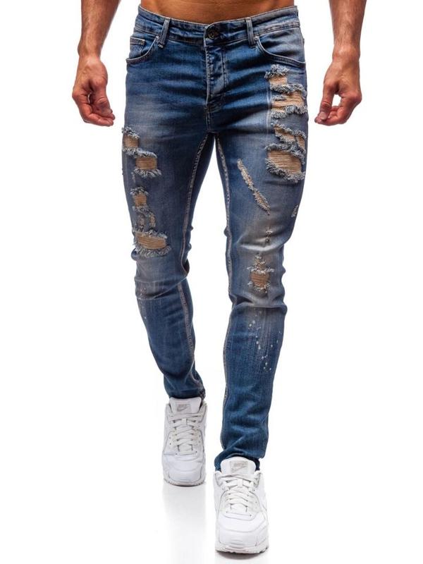 Spodnie jeansowe męskie granatowe Denley 1004