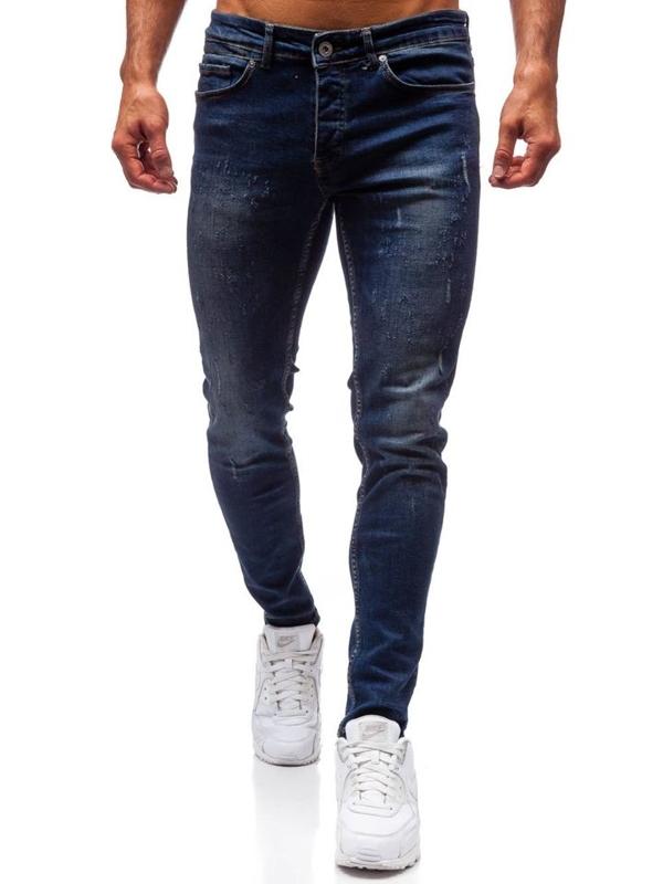 Spodnie jeansowe męskie granatowe Denley 1015