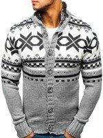 Sweter męski rozpinany antracytowy Denley 585