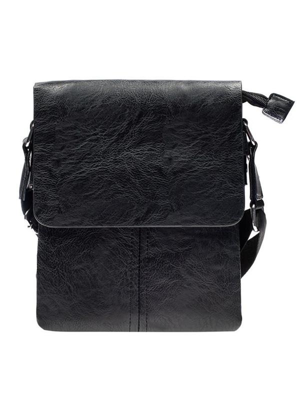 Torba męska na ramię listonoszka czarna Denley 8875-1