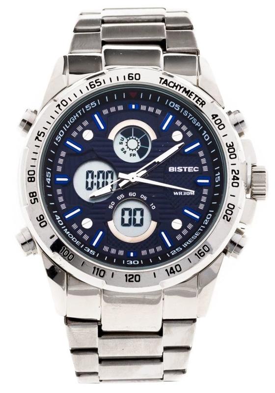 Zegarek męski na rękę stalowy granatowy Denley 210
