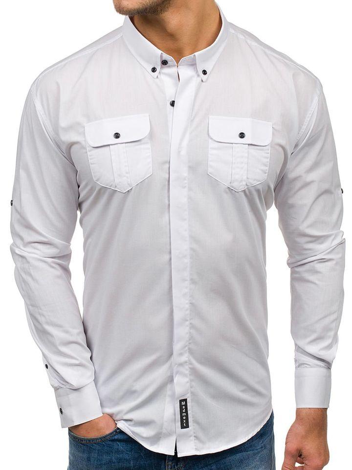 Stylizacja nr 280 zegarek, elegancka koszula, spodnie
