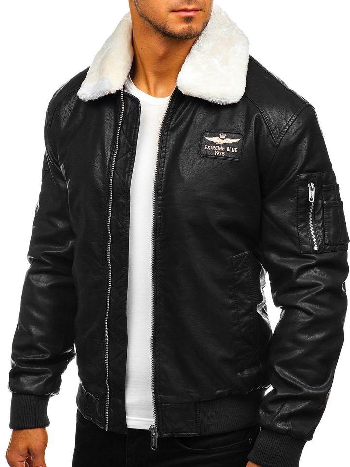 kurtka męska zimowa pilotka czarna