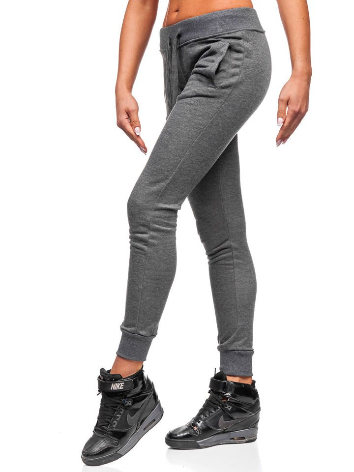 Spodnie dresowe damskie grafitowe Denley WB11003 A