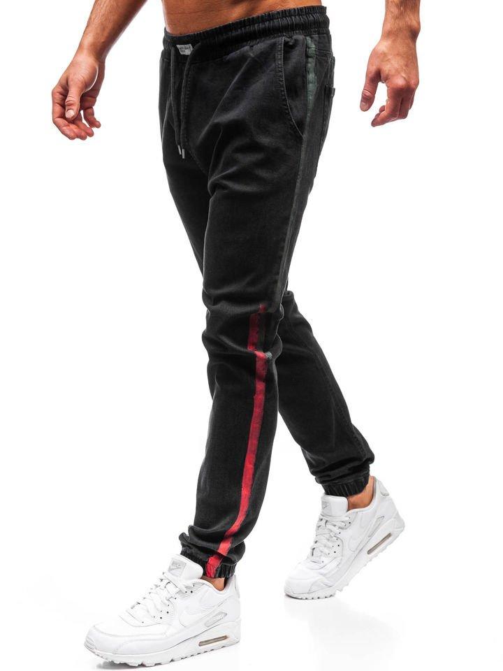 388fb6e7684c1 2053 Czarne Denley Jeansowe Męskie Joggery Spodnie X6PAA