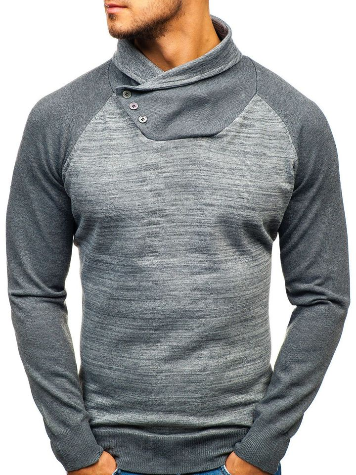 dc3a402761cbbd Sweter męski szary Denley H1850