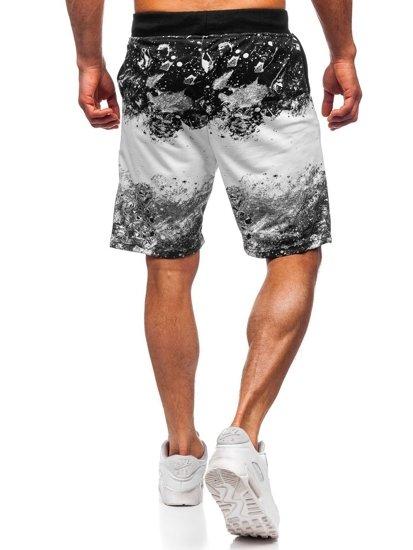 Białe dresowe krótkie spodenki męskie Denley KK300163