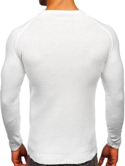 Biały sweter męski Denley 1009