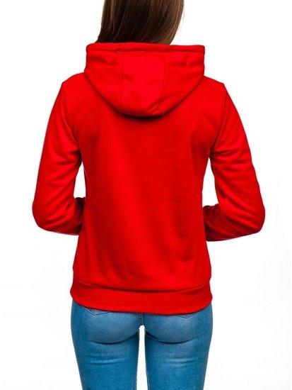 Bluza damska czerwona Denley WB11001-A