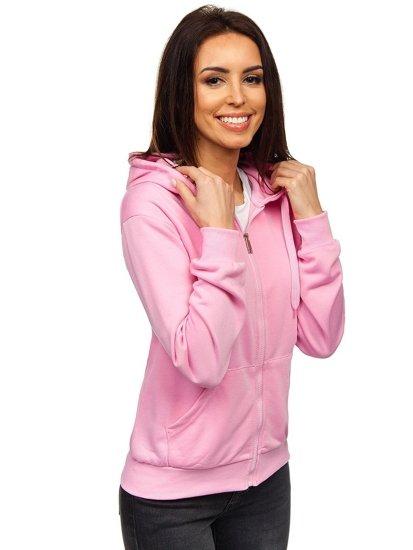 Bluza damska z kapturem różowa Denley WB1005