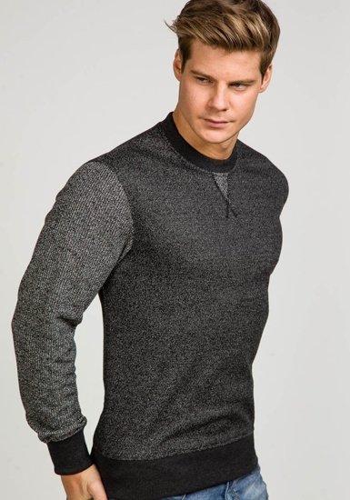 Bluza męska bez kaptura antracytowa Denley 3672