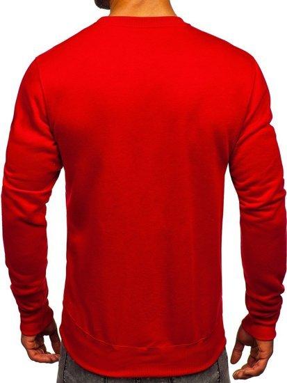 Bluza męska bez kaptura ciemnoczerwona Denley 2001