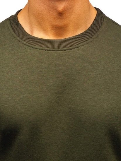 Bluza męska bez kaptura ciemnozielona Bolf BO-01