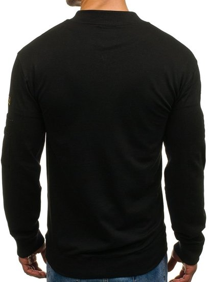 Bluza męska bez kaptura czarna Denley 0733