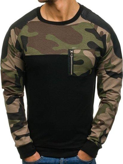 Bluza męska bez kaptura czarna Denley 0749