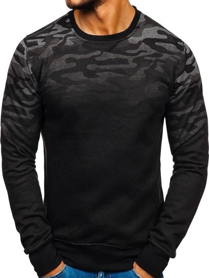 Bluza męska bez kaptura moro-grafitowa Denley DD133-2