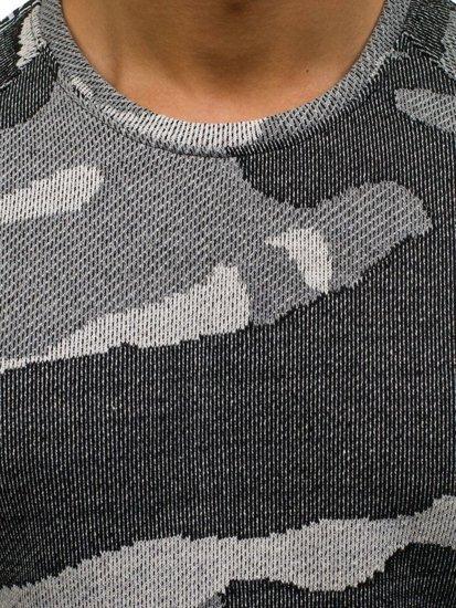 Bluza męska bez kaptura moro-szara Denley 2039