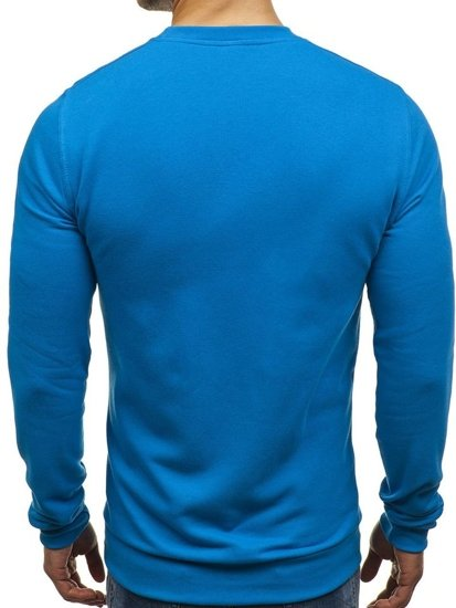 Bluza męska bez kaptura niebieska Denley 01