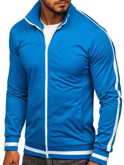 Bluza męska bez kaptura rozpinana retro style niebieska Bolf 2126