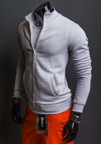 Bluza męska bez kaptura szara Bolf 12