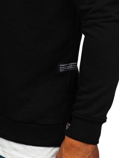 Bluza męska bez kaptura z nadrukiem czarna Bolf 11114