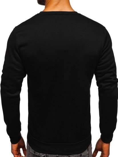 Bluza męska bez kaptura z nadrukiem czerwona Denley HY605