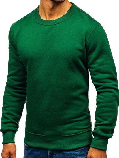 Bluza męska bez kaptura zielona Denley 2001