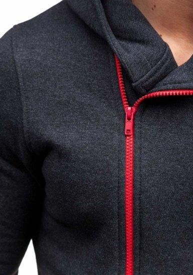 Bluza męska z kapturem antracytowa Bolf 33S
