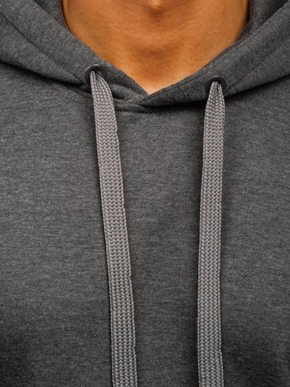 Bluza męska z kapturem antracytowa Denley 2009