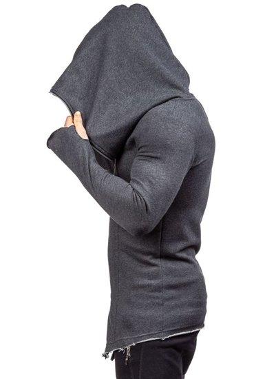 Bluza męska z kapturem antracytowa Denley 2036-1