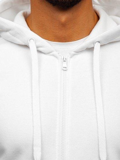 Bluza męska z kapturem biała Denley 2008