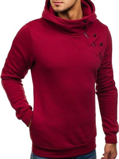 Bluza męska z kapturem bordowa Bolf 06S
