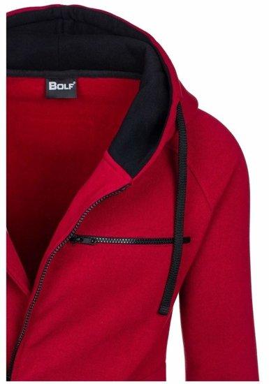 Bluza męska z kapturem bordowa Bolf 31S