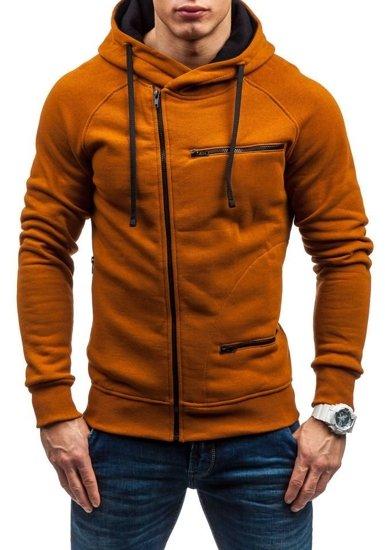 Bluza męska z kapturem camelowa Bolf 31S