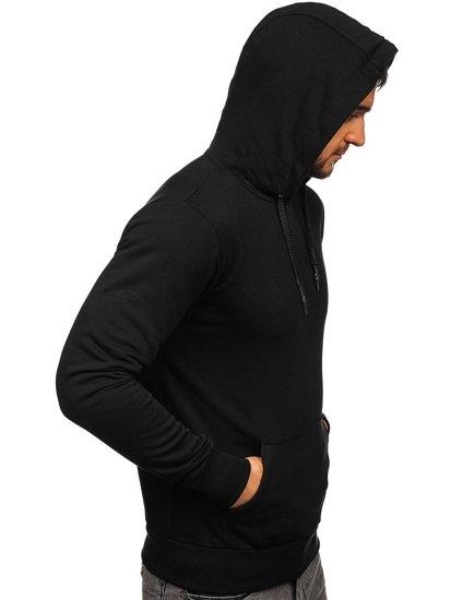 Bluza męska z kapturem czarna Bolf 1004