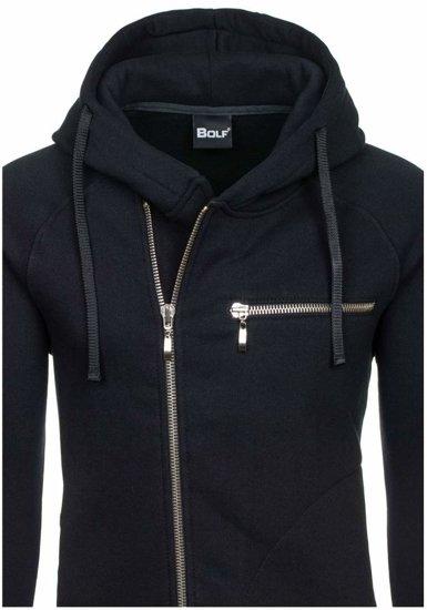 Bluza męska z kapturem czarna Bolf 41S-ZM