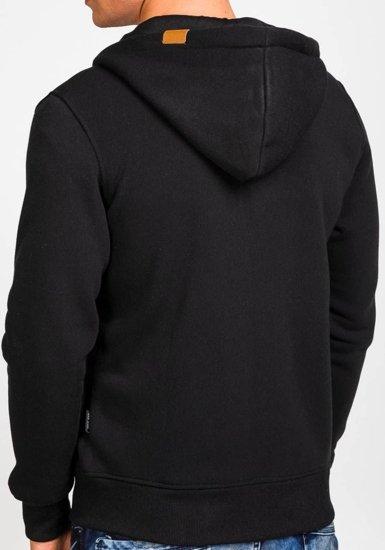Bluza męska z kapturem czarna Denley 3657