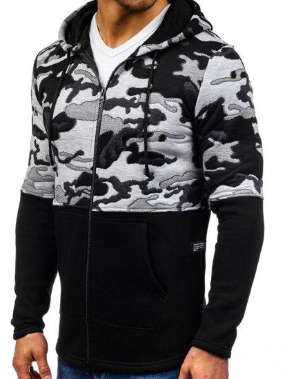 Bluza męska z kapturem czarna Denley 9109