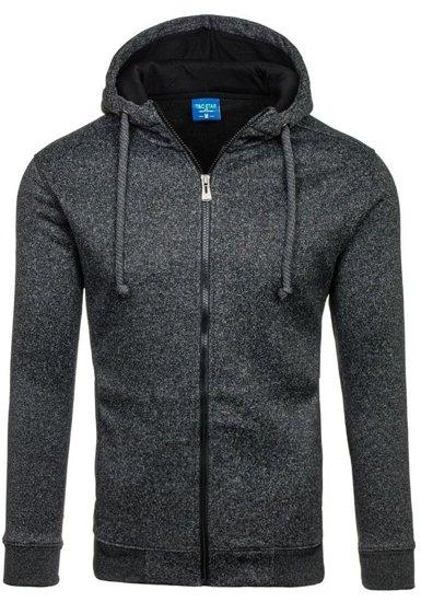 Bluza męska z kapturem czarna Denley TC22-1