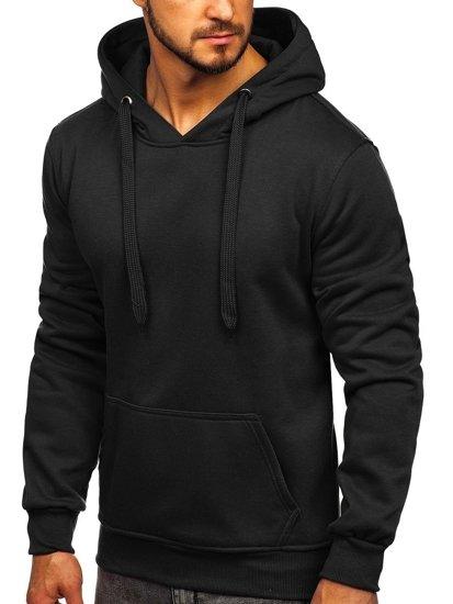 Bluza męska z kapturem czarna kangurka Denley 2009