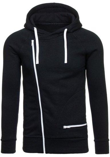 Bluza męska z kapturem czarno-biała Denley CARLO