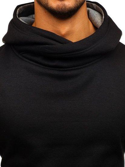 Bluza męska z kapturem czarno-szara Denley 2078