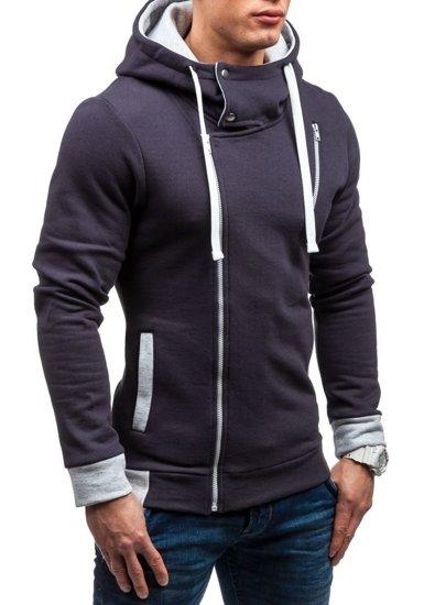 Bluza męska z kapturem grafitowa Bolf 48S